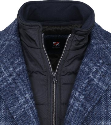Suitable Geke Coat Check Blau
