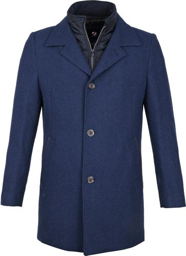 Suitable Geke Coat Dark Blue