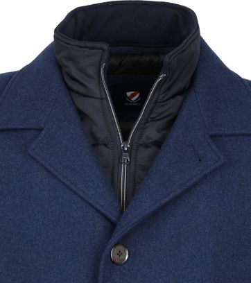 Suitable Geke Coat Dark Blue