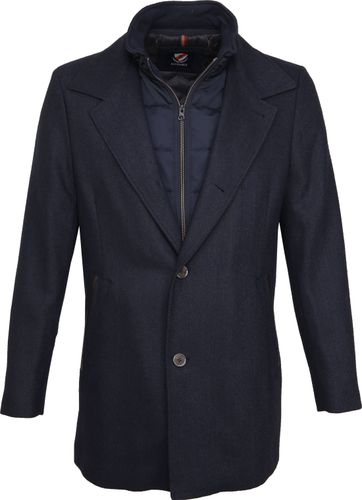 Suitable Geke Coat Herringbone Navy