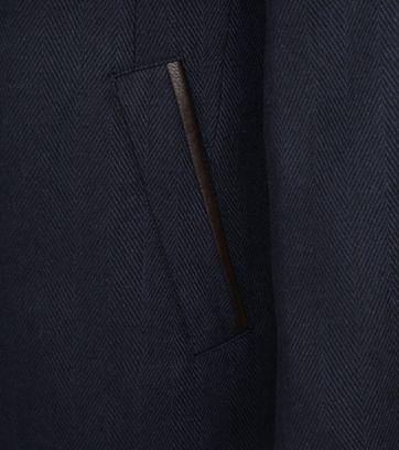 Suitable Geke Coat Herringbone Navy