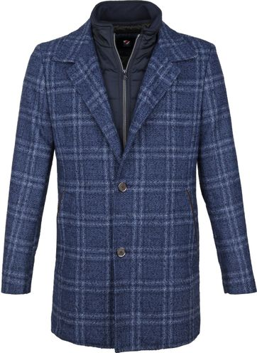 Suitable Geke Coat Ruit Blauw