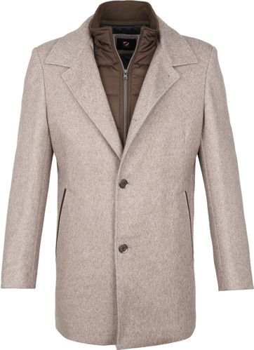 Suitable Geke Coat Streep Beige