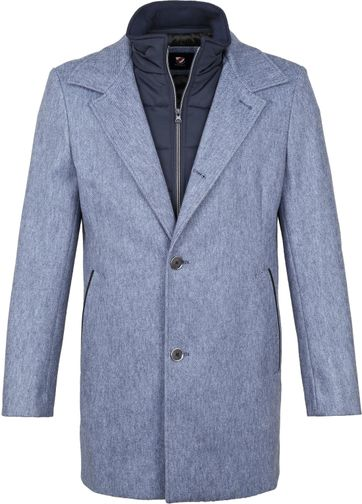 Suitable Geke Coat Streep Blauw
