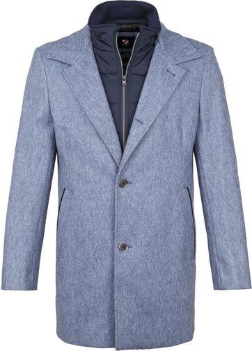 Suitable Geke Coat Stripe Blue