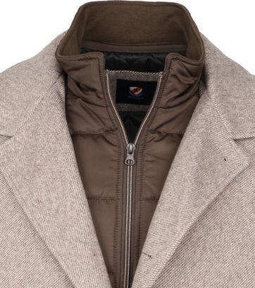Suitable Geke Coat Stripes Beige