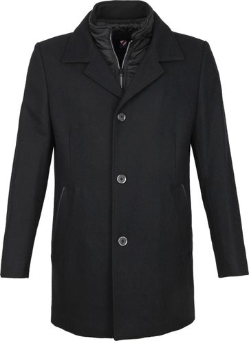Suitable Geke Coat Zwart