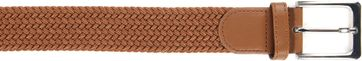 Suitable Geweven Riem Taupe Cognac