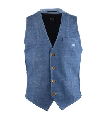 Suitable Gilet Blauw Pinpoint