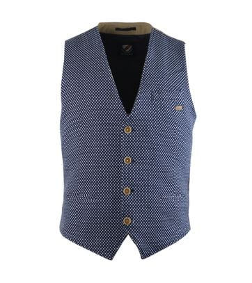 Suitable Gilet Blauw Ruit