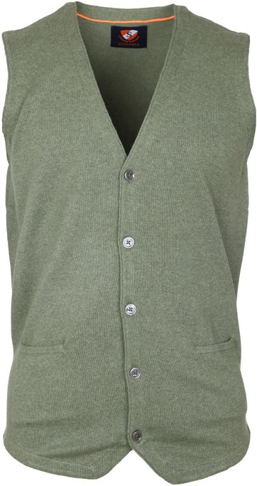 Suitable Gilet Cotton Green