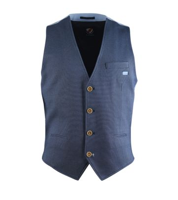 Suitable Gilet Donkerblauw Pinpoint