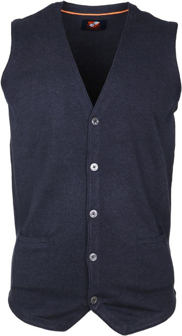 Suitable Gilet Katoen Navy