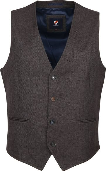 Suitable Gilet Kris Antraciet