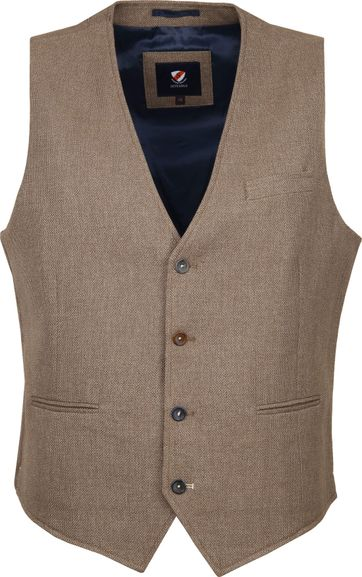 Suitable Gilet Kris Camel