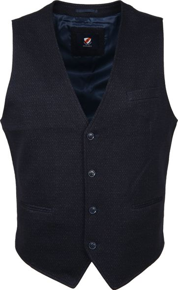 Suitable Gilet Kris Dessin Navy