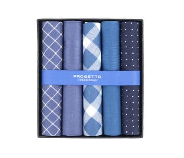 Suitable Handkerchief Set Blue