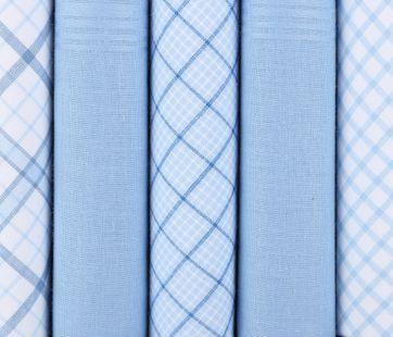 Suitable Handkerchief Set Blue Checkered