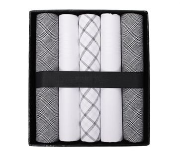 Suitable Handkerchief Set Grey Checkered