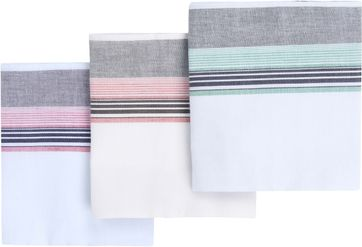 Suitable Handkerchief Set Hanky Multicolour Stripes
