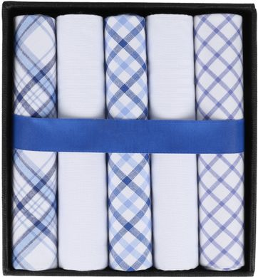 Suitable Handkerchief Set Pane Blue