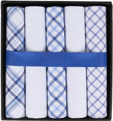 Suitable Handkerchief Set Pane Blue
