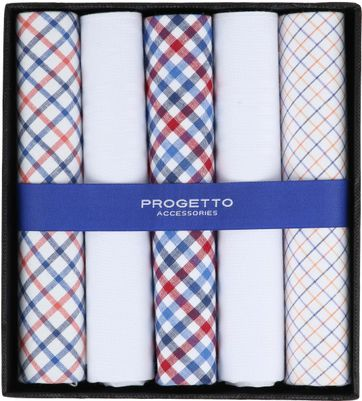 Suitable Handkerchiefs White Checkered