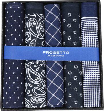 Suitable Hanky Handkerchief Navy