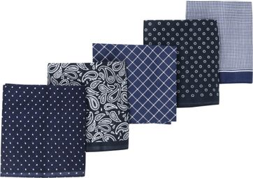 Suitable Hanky Handkerchief Navy