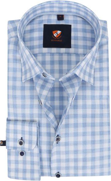 Suitable Hemd 227-9 Karo Blau