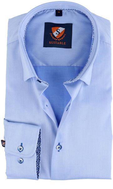 Suitable Hemd Blau