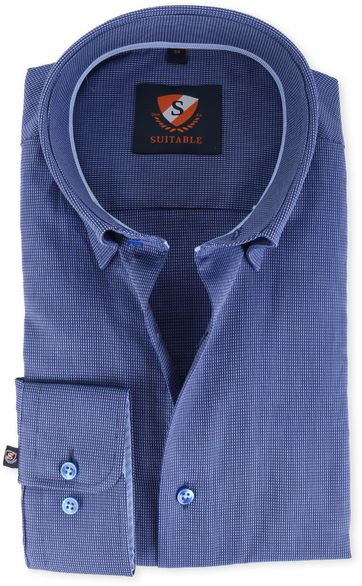 Suitable Hemd Blau 134-3