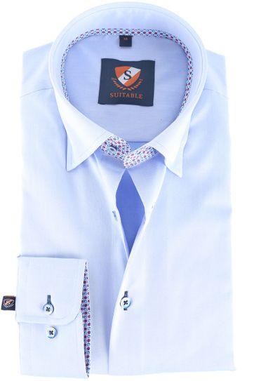 Suitable Hemd Blau 145-2