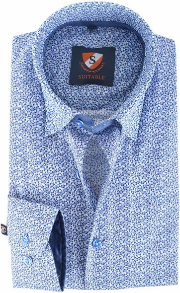 Suitable Hemd Blau 145-6