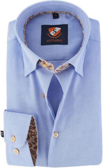Suitable Hemd Blau 149-2