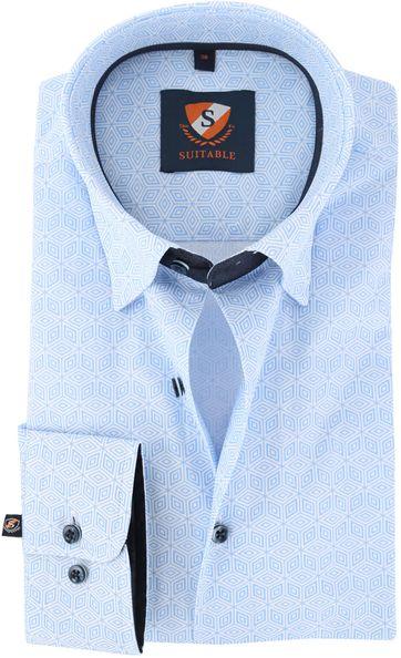 Suitable Hemd Blau 149-3