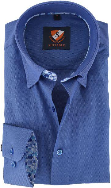 Suitable Hemd Blau 149-4