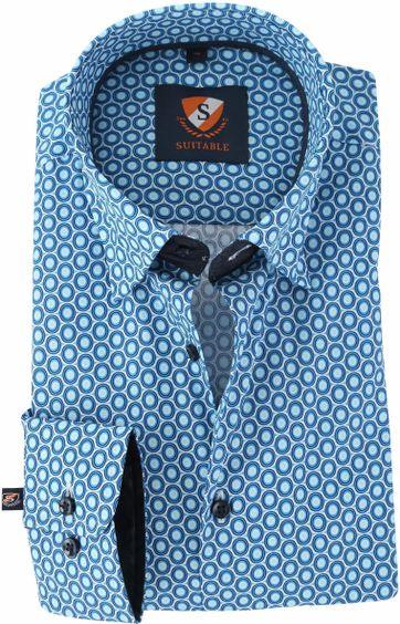 Suitable Hemd Blau 149-7