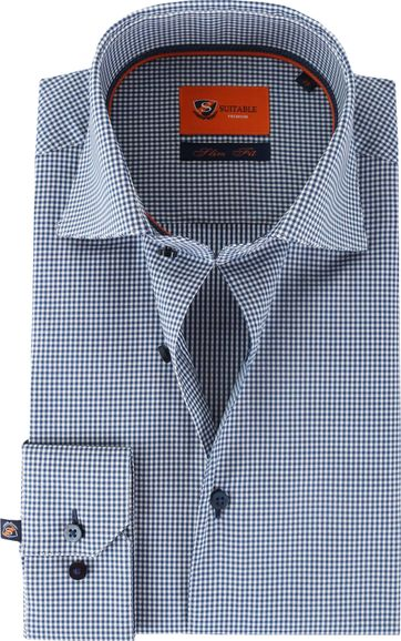Suitable Hemd Blau 62-03