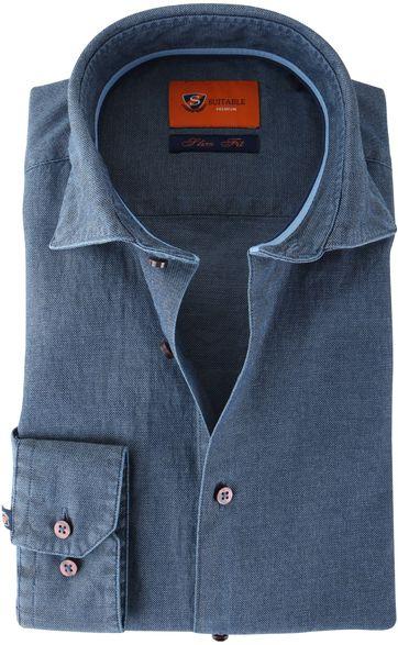 Suitable Hemd Blau 62-04