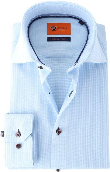 Suitable Hemd Blau 62-10