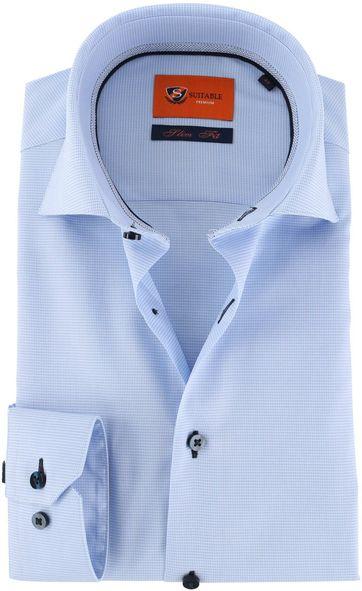 Suitable Hemd Blau D72-01