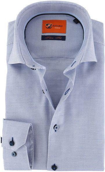 Suitable Hemd Blau D72-02