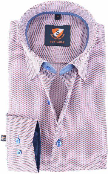 Suitable Hemd Blau Rot 143-5