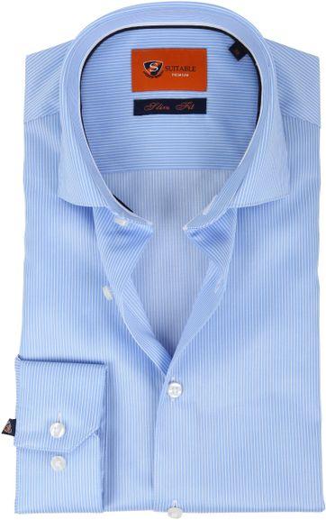 Suitable Hemd Blau Streifen D81-10