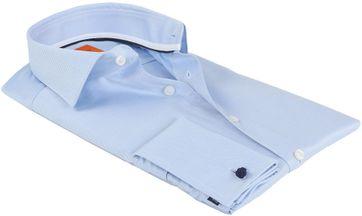 Detail Suitable Hemd Blau Twill