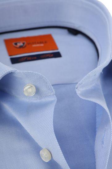 Suitable Hemd Blau Twill