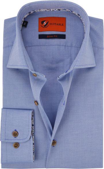 Suitable Hemd Blau Waut