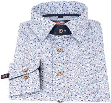 Detail Suitable Hemd Blaue Blume