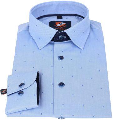 Detail Suitable Hemd Blaue Oxfort